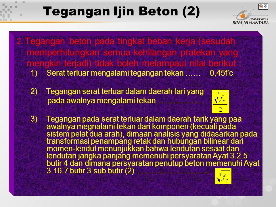12 Tegangan Ijin Beton (2) 2.