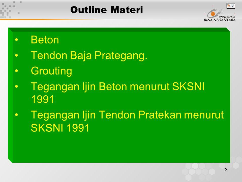 3 Outline Materi Beton Tendon Baja Prategang.