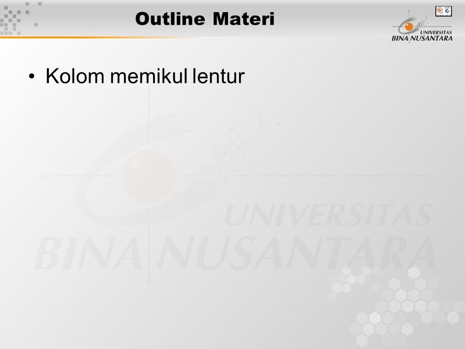 Outline Materi Kolom memikul lentur