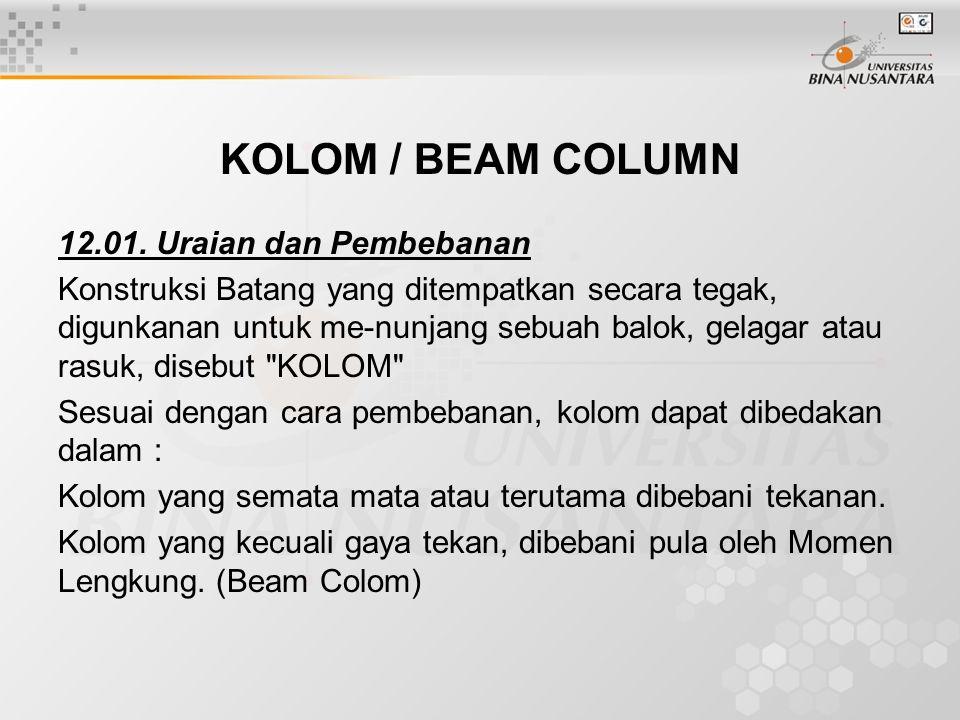 KOLOM / BEAM COLUMN 12.01.