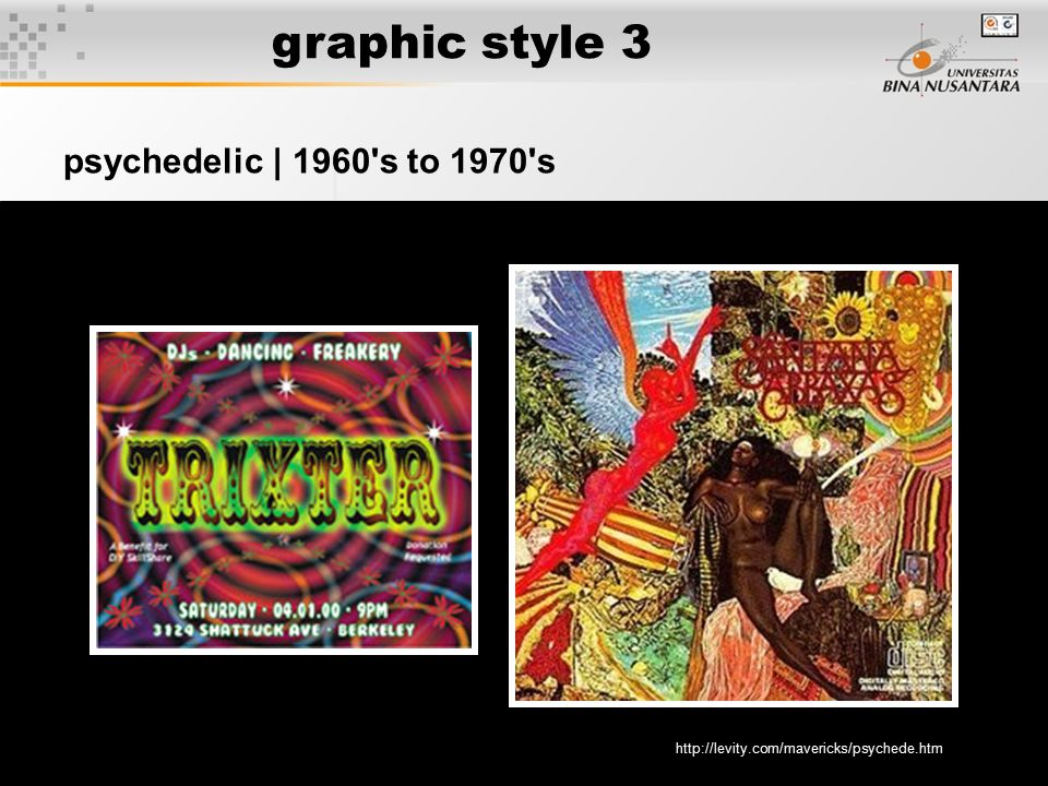 5 graphic style 3 psychedelic | 1960's to 1970's http://levity.com/mavericks/psychede.htm
