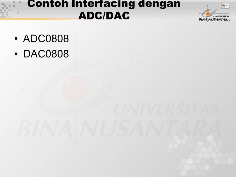 Contoh Interfacing dengan ADC/DAC ADC0808 DAC0808