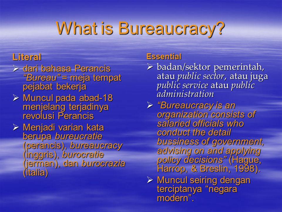 Kedudukan dan Posisi Filosofis Birokrasi