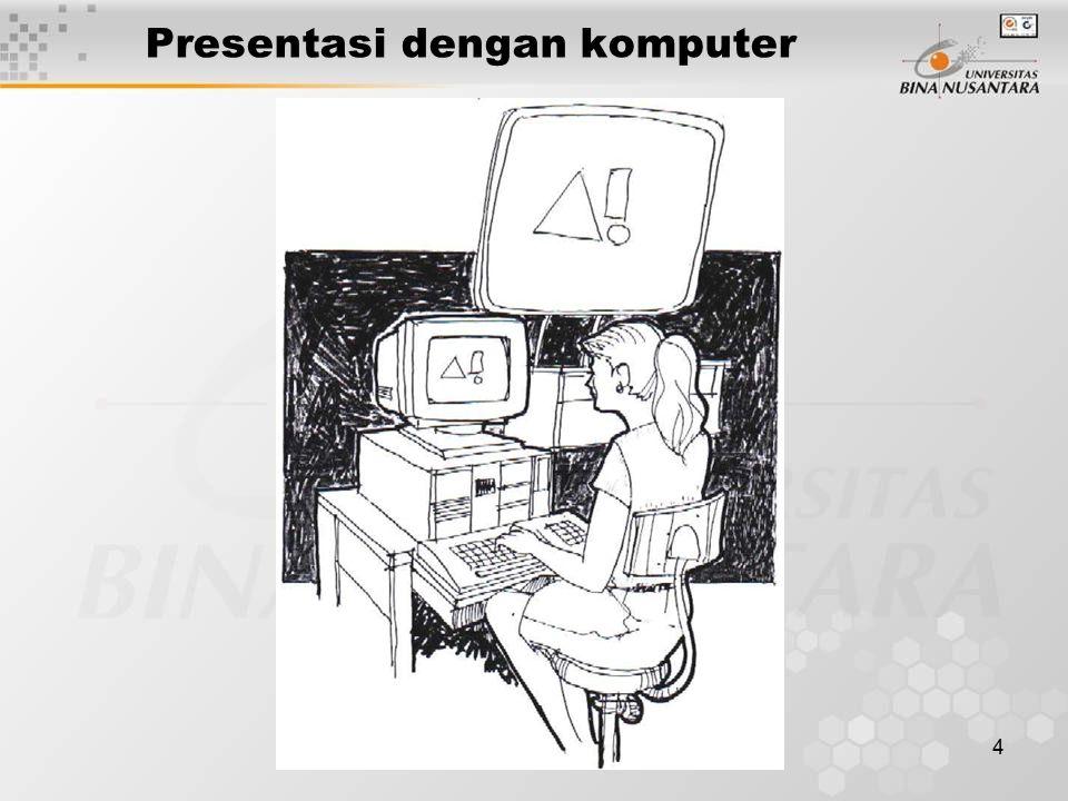 4 Presentasi dengan komputer