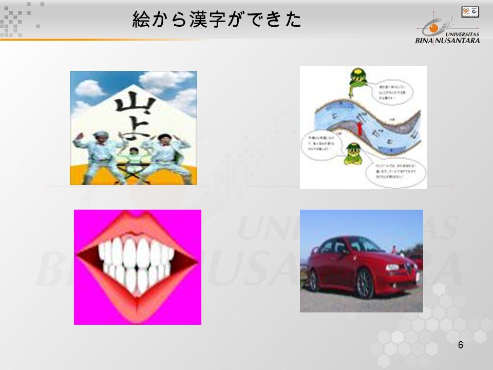 7 絵から漢字ができました