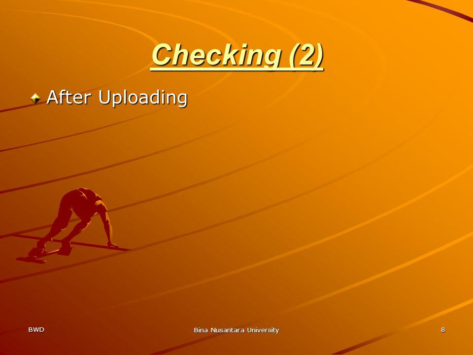 BWD Bina Nusantara University 8 Checking (2) After Uploading