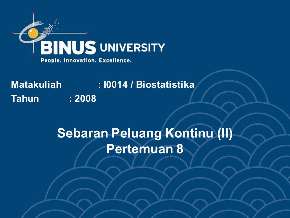 Bina Nusantara Z Standard Normal Z2Z2 Squared Sum  z  + z 2+ z 2+ z 2+ z 2+...