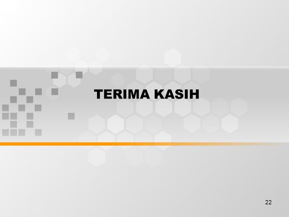 21 Rekaman-rekaman yang terkait sistem Manajemen K3 :  Rekaman-rekaman pelatihan  Laporan inspeksi  laporan-laporan audit  Bukti-bukti konsultasi