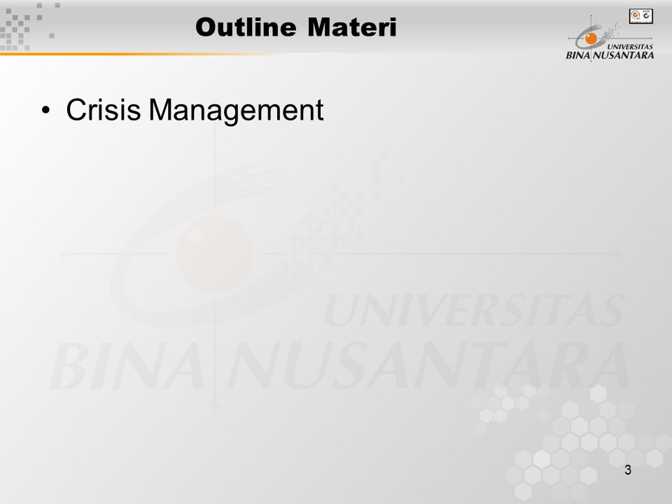 3 Outline Materi Crisis Management