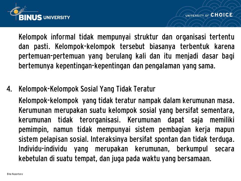Bina Nusantara 5.Masyarakat Pedesaan dan Masyarakat Perkotaan 1.