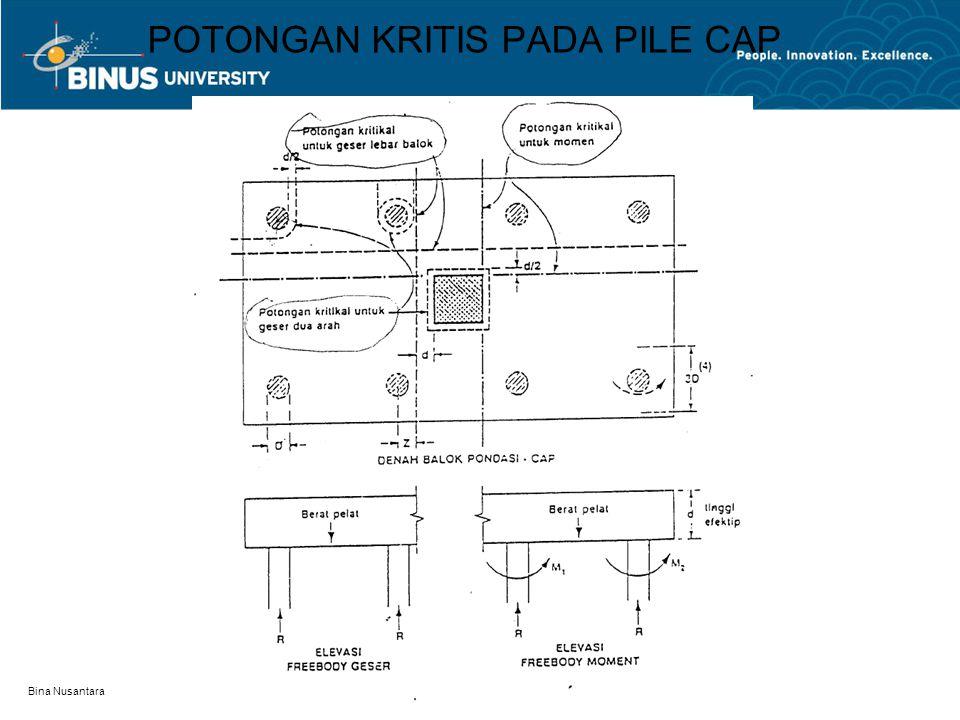Bina Nusantara POTONGAN KRITIS PADA PILE CAP