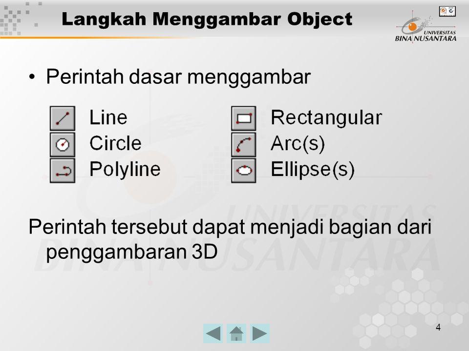 5 Editing Object Perintah dasar editing object