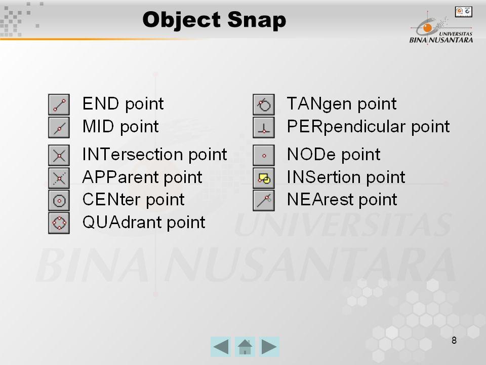9 Kesimpulan Perintah perintah dasar 2D dalam AutoCAD sangat menunjang untuk keperluan dalam penggambaran 3D