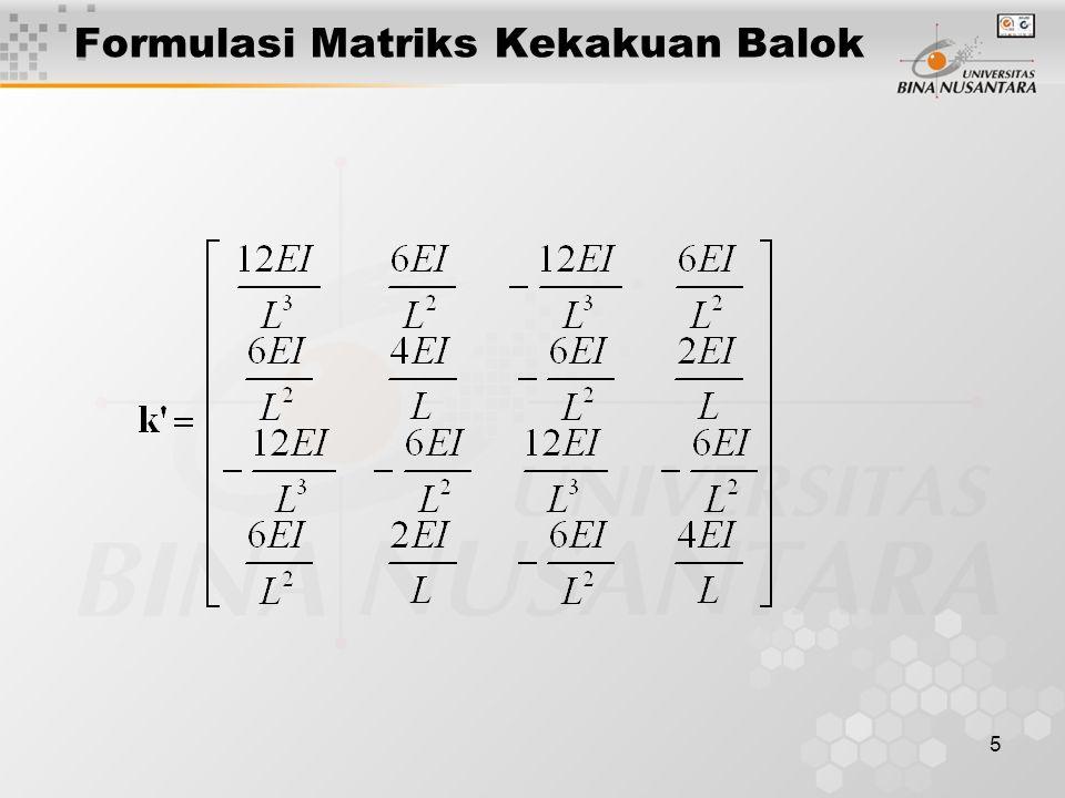 5 Formulasi Matriks Kekakuan Balok