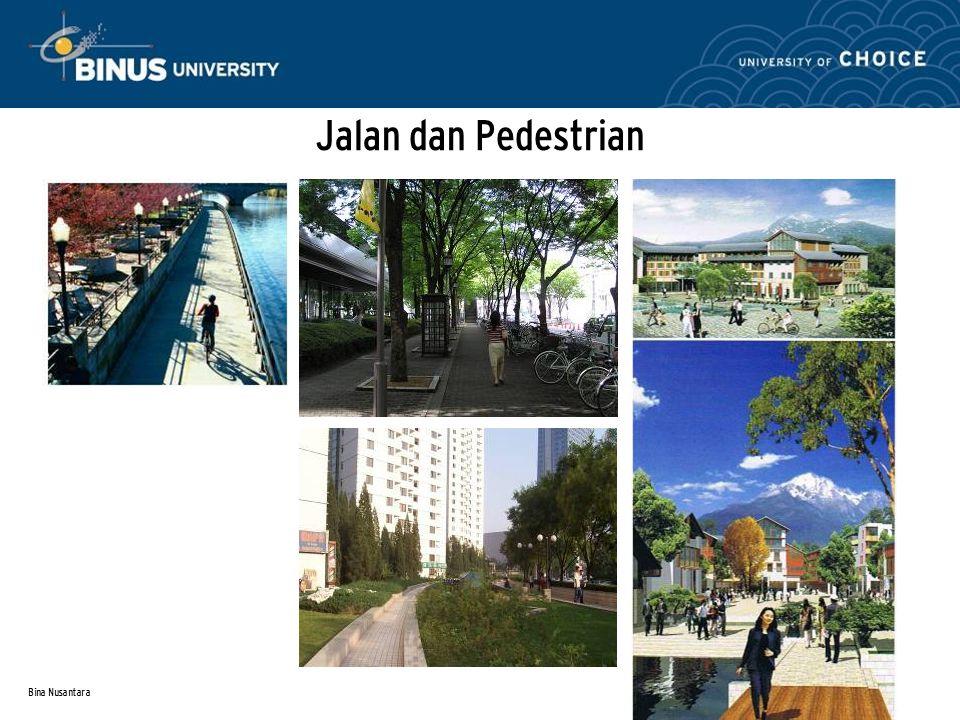 Bina Nusantara Jalan dan Pedestrian