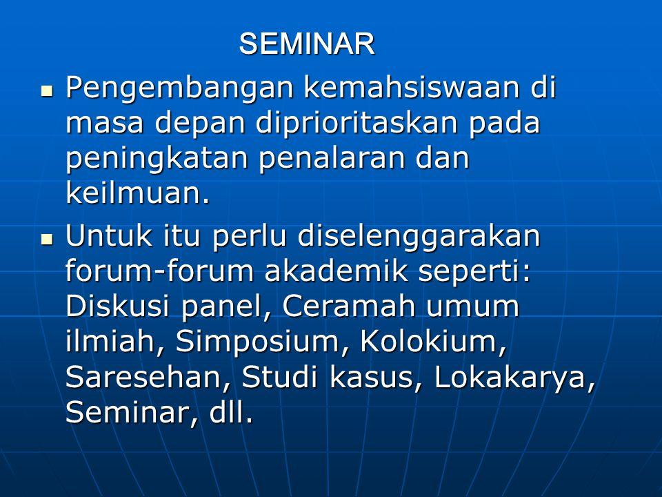 Forum-forum Akademik: 1.
