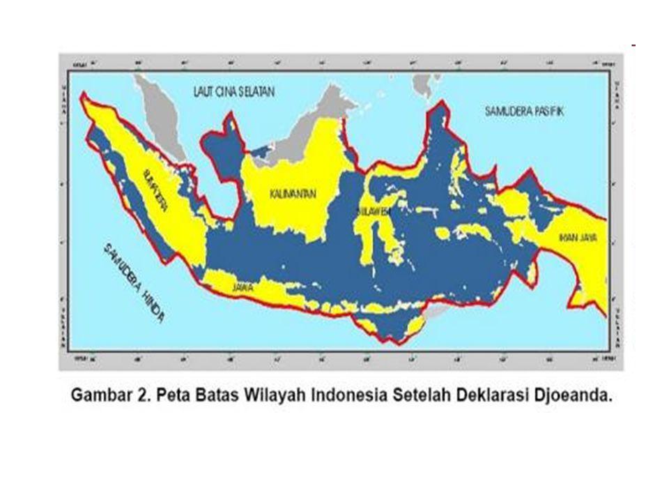 Undang-Undang Nomor 4/Prp tahun 1960 (Perpu No. 4/1960) tentang : Perairan Indonesia, dikeluarkan untuk memperkokoh Deklarasi Djuanda, berisi : a.Pera