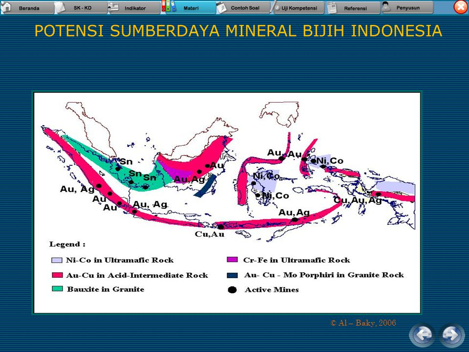 Sumberdaya Geologi (energi) Hidrokarbon/minyak dan gas bumi Contoh minyak bumi dari hasil test pemboran dan minyak bumi yang keluar sebagai rembesan d