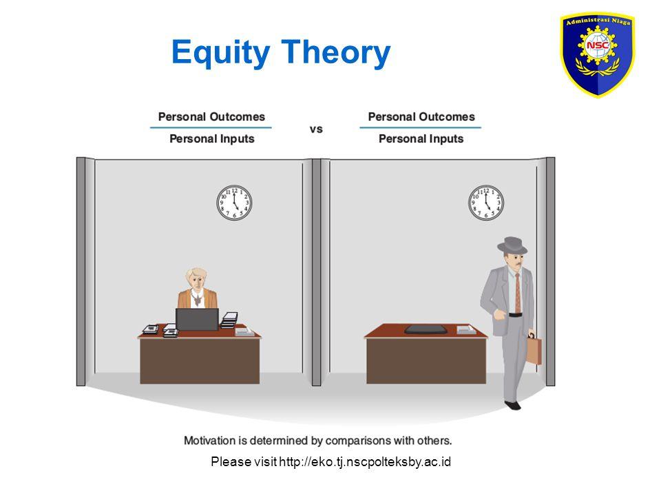 Please visit http://eko.tj.nscpolteksby.ac.id Expectancy Theory