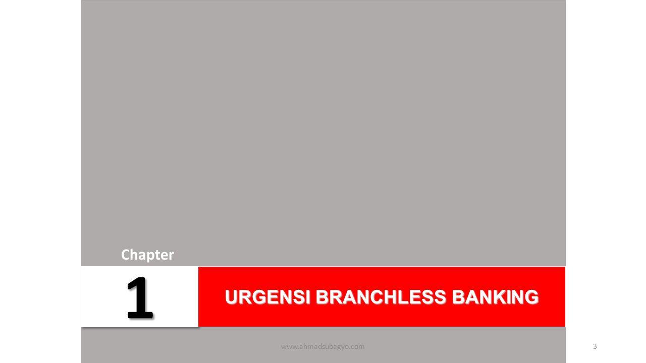 11 Chapter URGENSI BRANCHLESS BANKING www.ahmadsubagyo.com3
