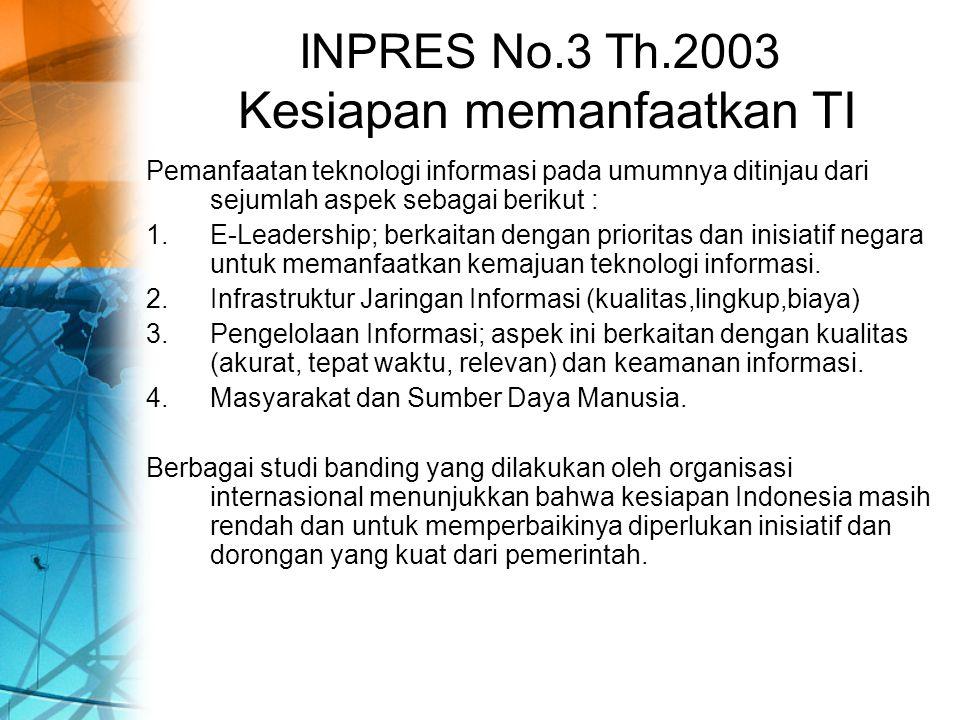 4.PEMBANGUNAN 4.1. Sistem Informasi dan Manajemen Data Pembangunan 4.2.