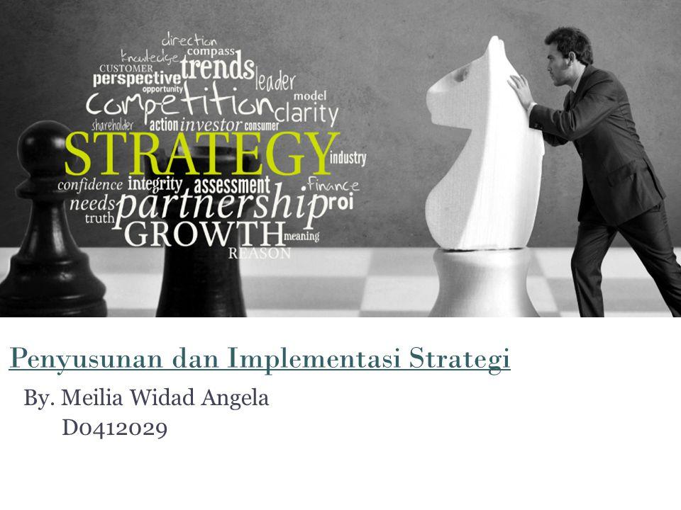 Penyusunan dan Implementasi Strategi By. Meilia Widad Angela D0412029