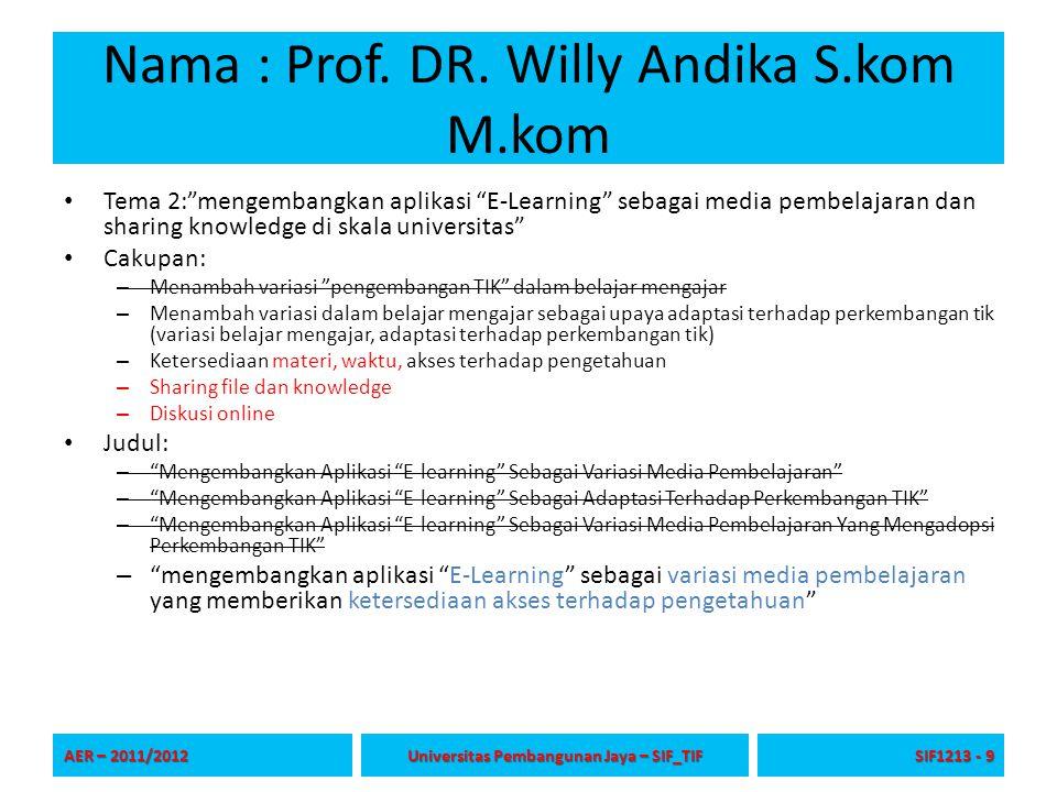 Nama : Prof. DR.