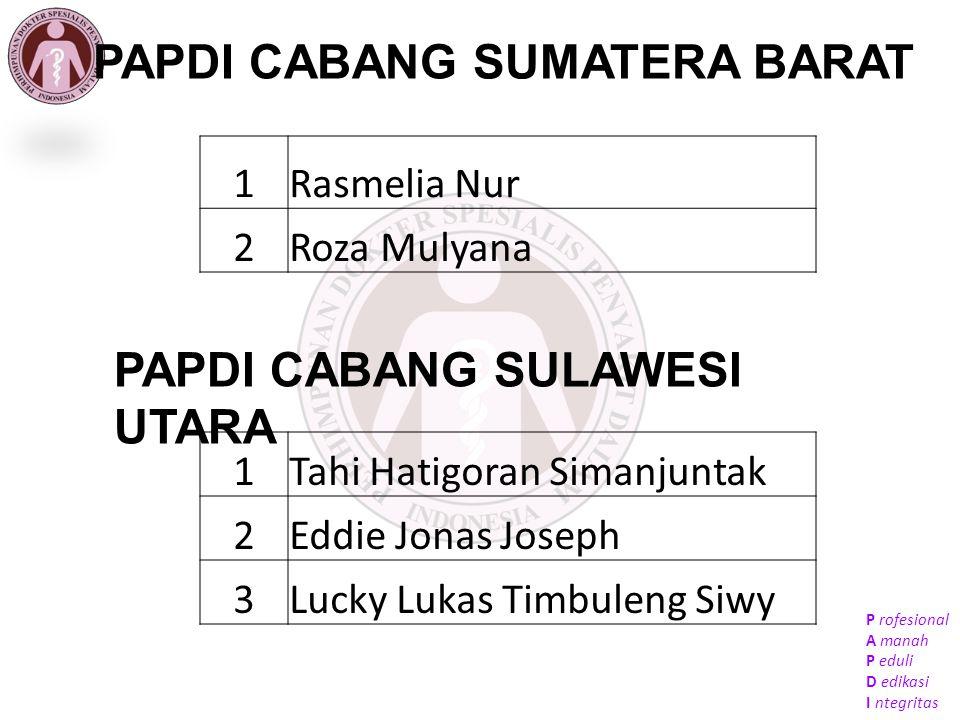 P rofesional A manah P eduli D edikasi I ntegritas PAPDI CABANG SUMATERA SELATAN 1Ratna Maila Dewi A.