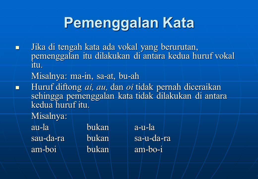 Tanda Koma Tanda koma dipakai di muka angka persepuluhan atau di antara rupiah dan sen yang dinyatakan dengan angka.