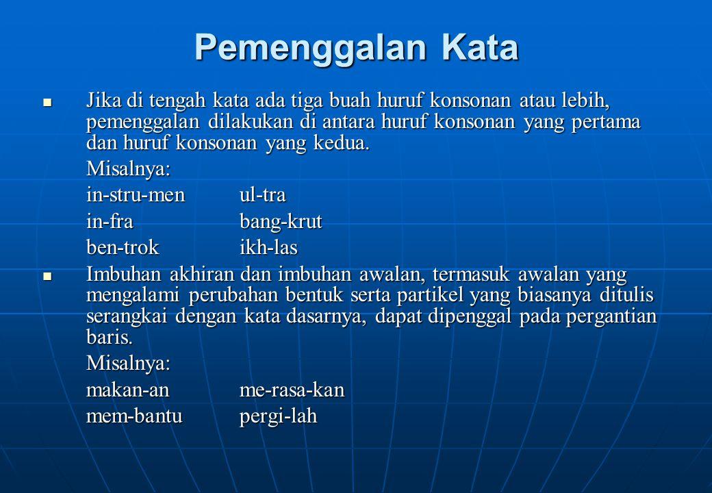 Tanda Titik Koma Tanda titik koma dapat dipakai untuk memisahkan bagian- bagian kalimat yang sejenis dan setara.