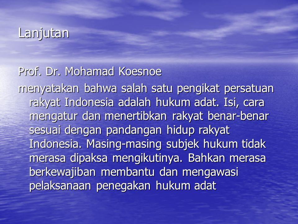 Lanjutan Prof.Dr.