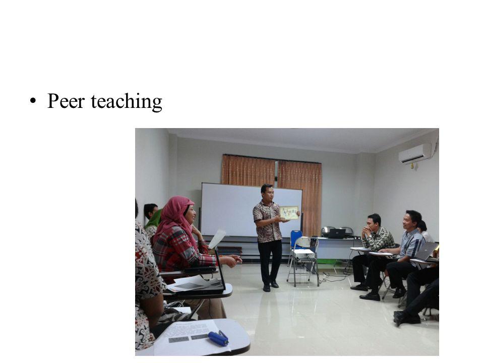 Peer teaching