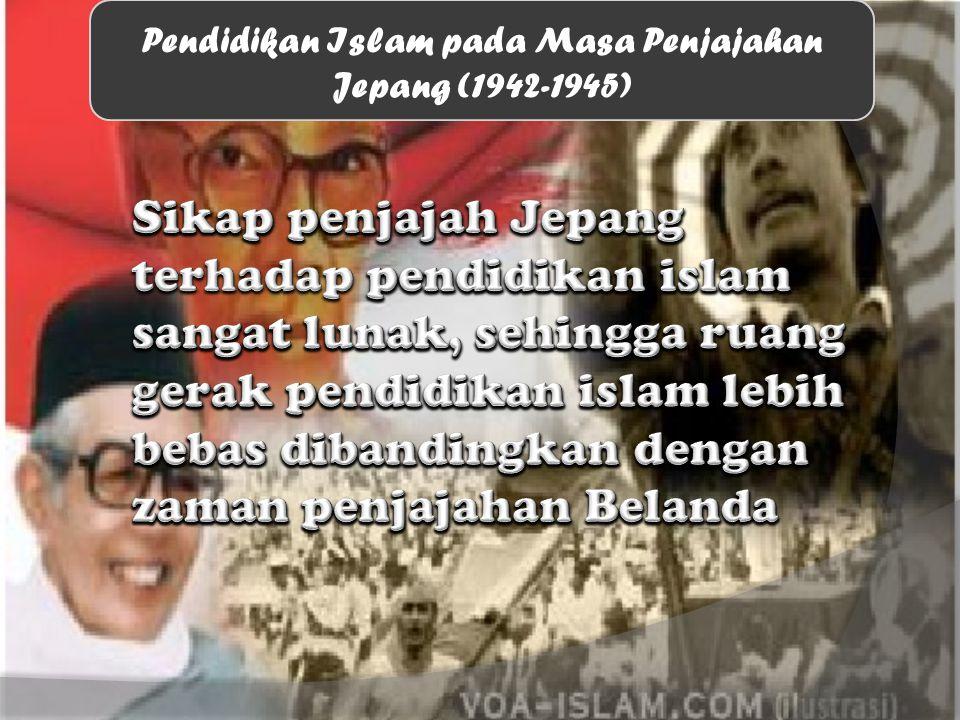 Pendidikan Islam pada Masa Penjajahan Jepang (1942-1945)