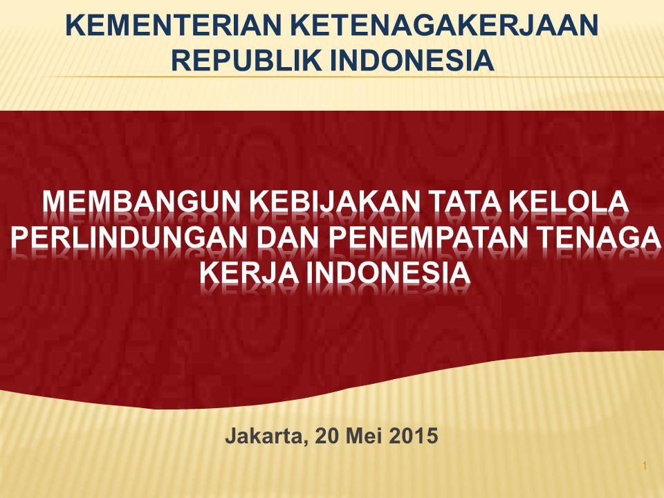 Jakarta, 20 Mei 2015 1 KEMENTERIAN KETENAGAKERJAAN REPUBLIK INDONESIA
