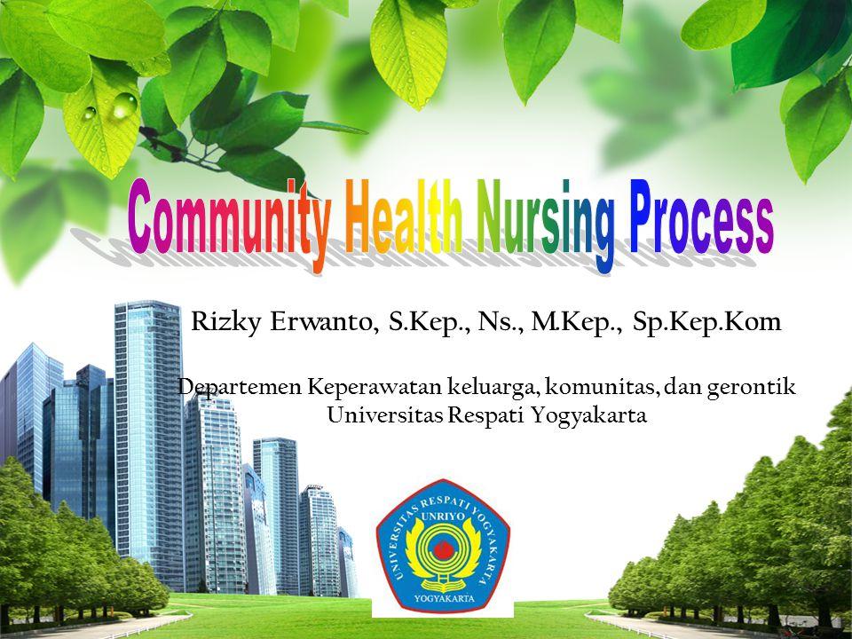 Community Health Nursing Process 1.Community Health Nursing Assessment 2.