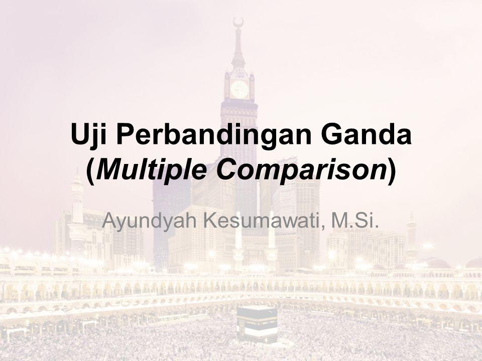 Uji Perbandingan Ganda (Multiple Comparison) Ayundyah Kesumawati, M.Si.