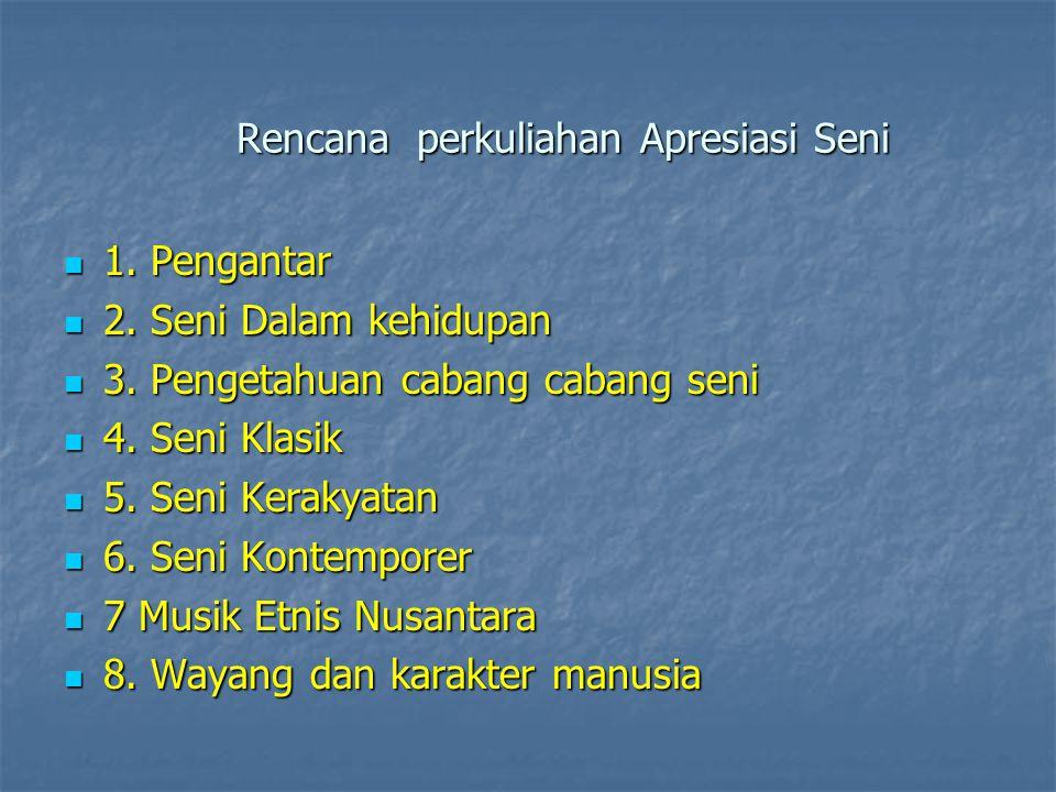 Pengantar Apresiasi Seni Kuswarsantyo, M.Hum