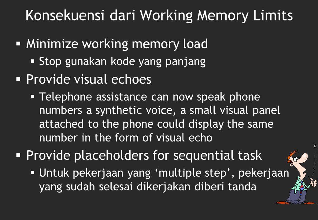 Mari buktikan… Gunakan Program 'Short term memory span' Lakukan percobaan Lakukan analisa