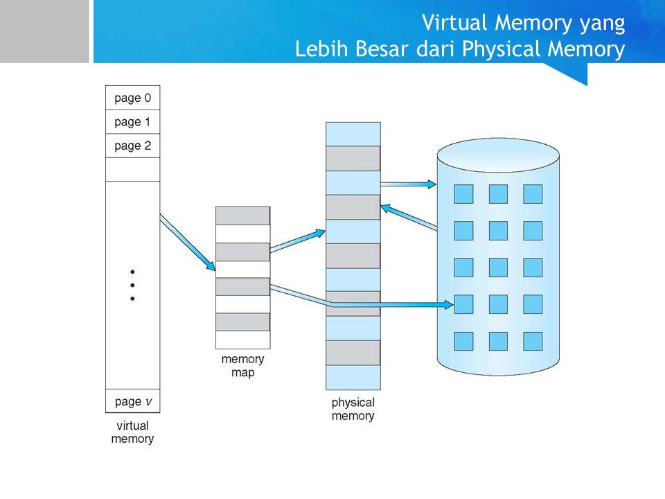 Virtual Memory yang Lebih Besar dari Physical Memory