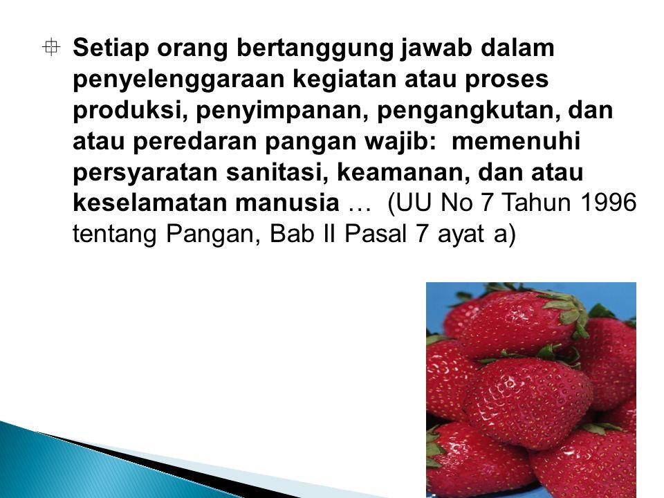 11.Label Makanan harus diberi label yang memenuhi ketentuan yang ditetapkan.