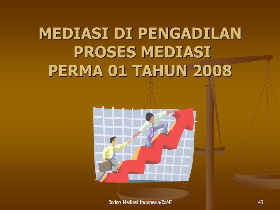 44 SERTIFIKAT MEDIATOR Setiap orang yang menjalankan fungsi mediator pada asasnya wajib memiliki sertifikat mediator yang diperoleh setelah mengikuti pelatihan yang diselenggarakan oleh lembaga yang telah memperoleh akreditasi dari Mahkamah Agung RI.