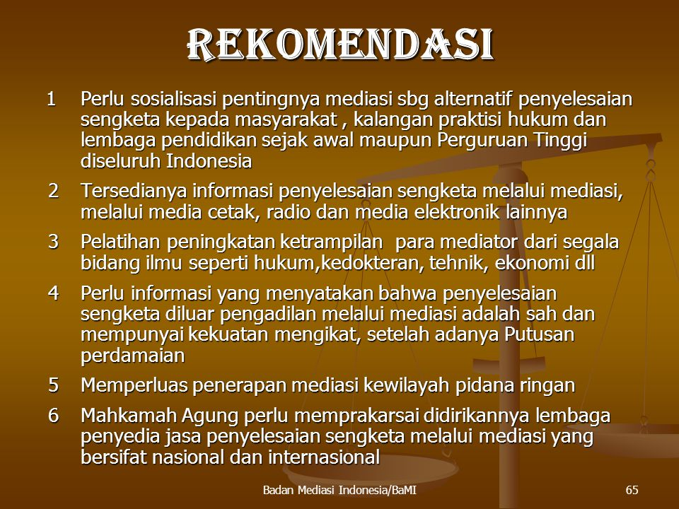 66Badan Mediasi Indonesia/BaMI