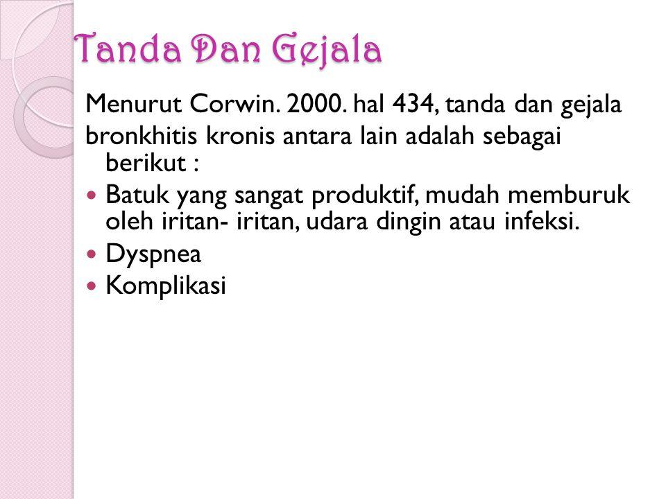 Tanda Dan Gejala Menurut Corwin.2000.