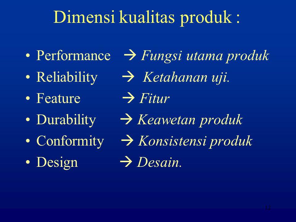 11 Faktor pendorong kepuasan pelanggan: Kualitas produk Harga Pelayanan Faktor emosional (brand image) Kemudahan memperoleh produk.