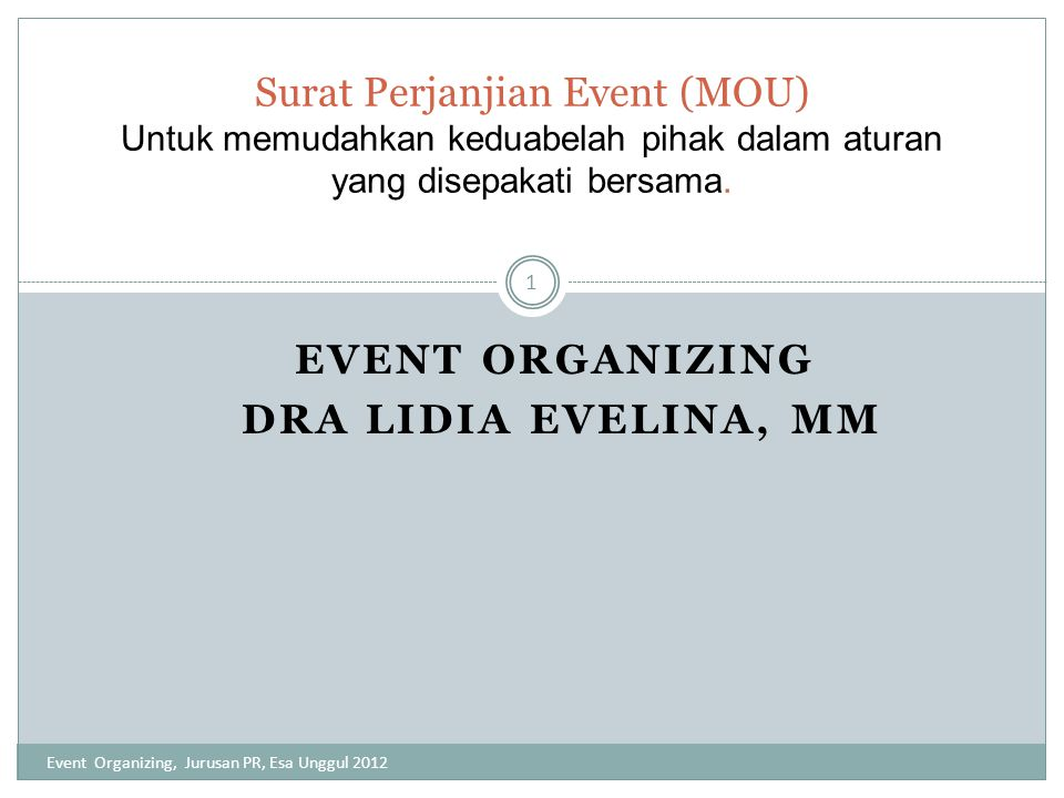 Terima Kasih Event Organizing, Jurusan PR, Esa Unggul 2012 12