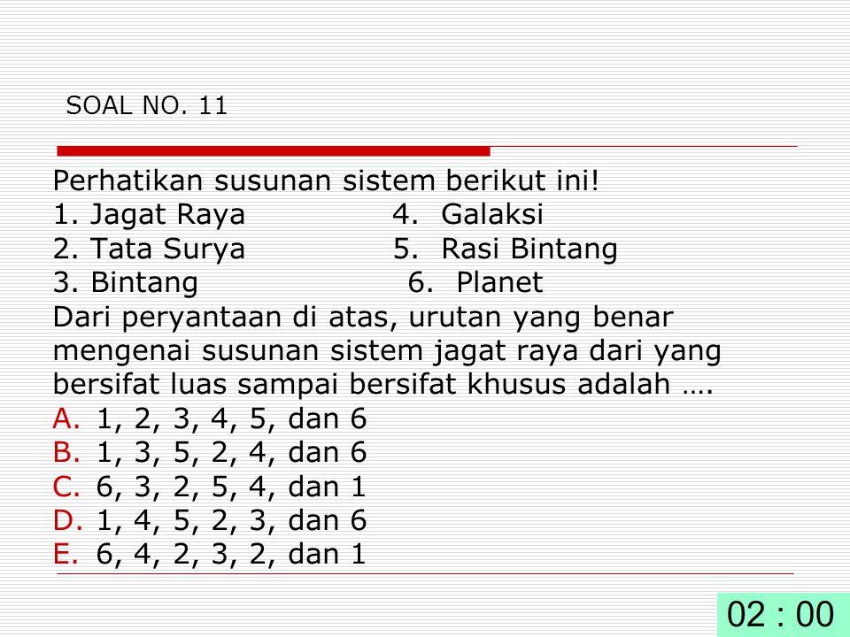 SOAL NO.11 Perhatikan susunan sistem berikut ini.