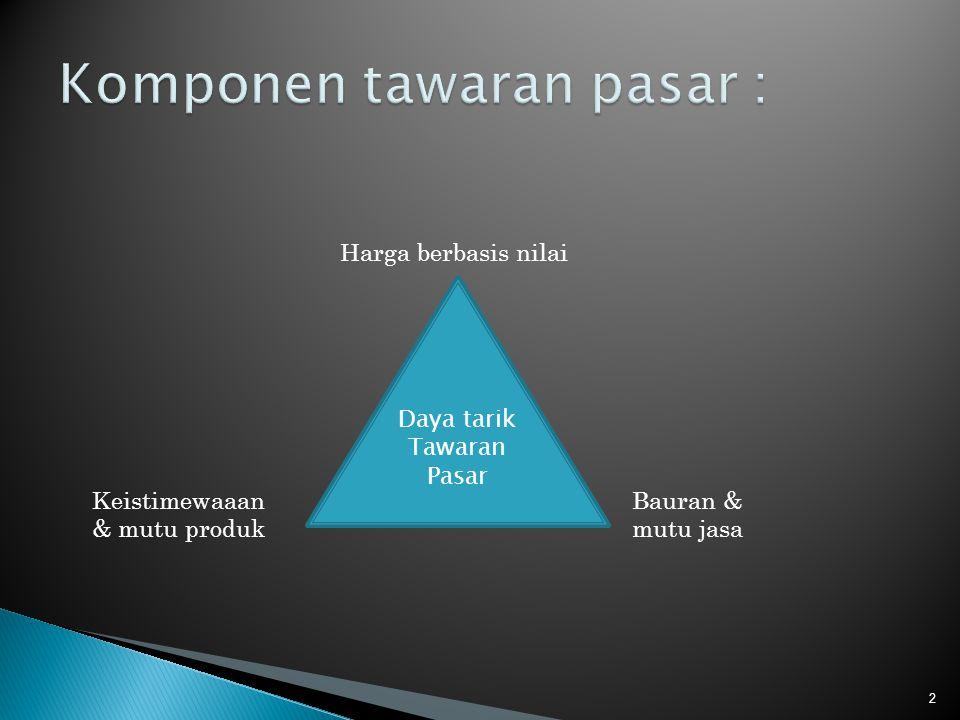  Dimensi bauran produk memungkinkan perusahaan tersebut memperluas bisnisnya dengan empat cara; ◦ Dengan menambah lini produk baru, ◦ Memperpanjang setiap lini produk, ◦ Menambah lebih banyak jenis produk ke dalam setiap produk dan memperdalam bauran produknya 13