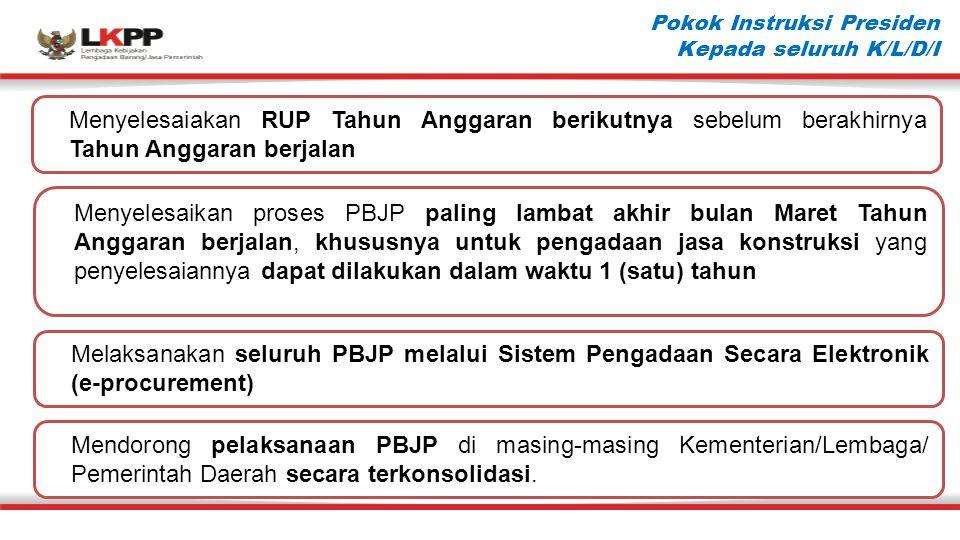 Pokok Instruksi Presiden (2) Mempercepat penyelesaian petunjuk teknis dalam rangka pelaksanaan tugas Perbantuan dan Dekonsentrasi.