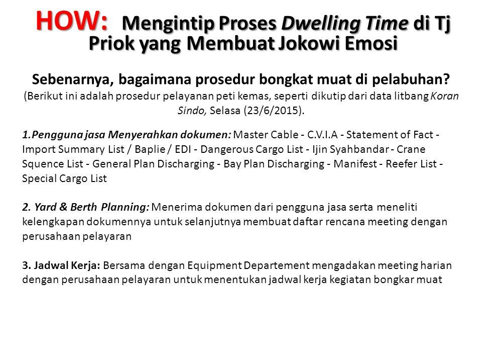 HOW: Mengintip Proses Dwelling Time di Tj Priok yang Membuat Jokowi Emosi Sebenarnya, bagaimana prosedur bongkat muat di pelabuhan? (Berikut ini adala