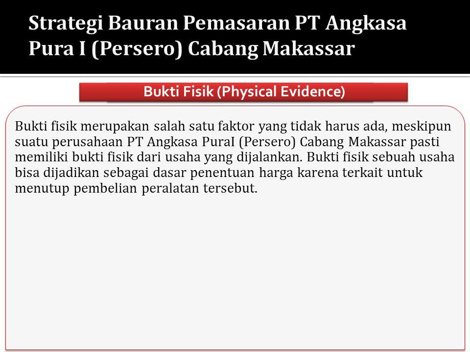 Bukti fisik merupakan salah satu faktor yang tidak harus ada, meskipun suatu perusahaan PT Angkasa PuraI (Persero) Cabang Makassar pasti memiliki bukt